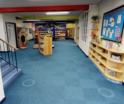 A photograph of our schools reception area